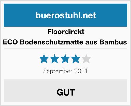 Floordirekt ECO Bodenschutzmatte aus Bambus  Test