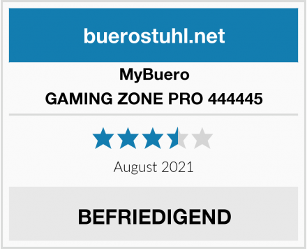 MyBuero GAMING ZONE PRO 444445 Test