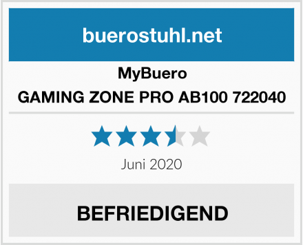 MyBuero GAMING ZONE PRO AB100 722040 Test