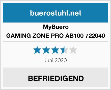 MyBuero GAMING ZONE PRO AB100 722040 Test
