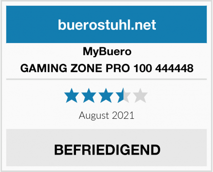 MyBuero GAMING ZONE PRO 100 444448 Test
