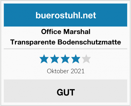 Office Marshal Transparente Bodenschutzmatte Test