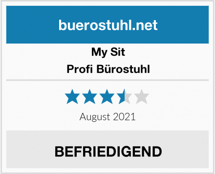 My Sit Profi Bürostuhl Test