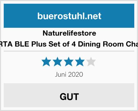 Naturelifestore COMFORTA BLE Plus Set of 4 Dining Room Chairs Eiffel Test
