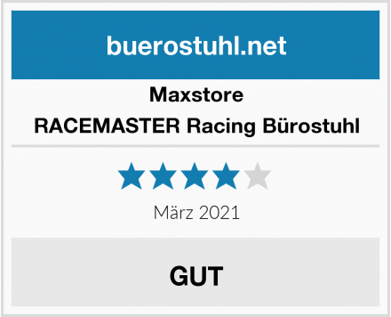 Maxstore RACEMASTER Racing Bürostuhl Test