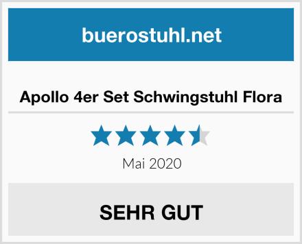 Apollo 4er Set Schwingstuhl Flora Test