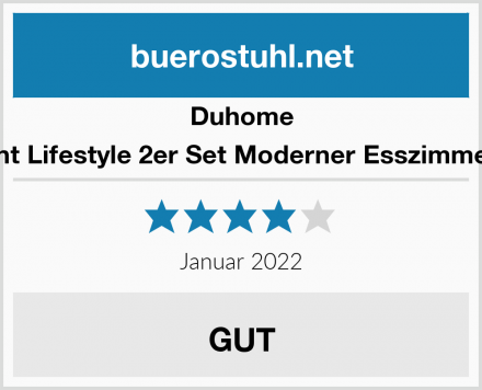 Duhome Elegant Lifestyle 2er Set Moderner Esszimmerstuhl Test