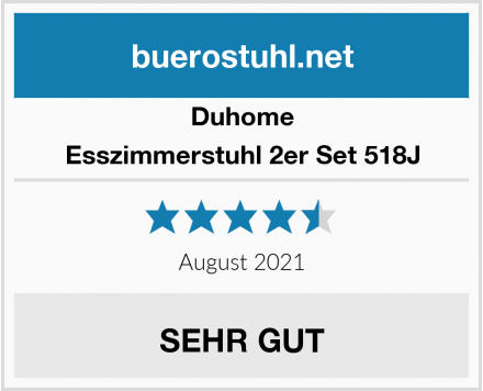 Duhome Esszimmerstuhl 2er Set 518J Test