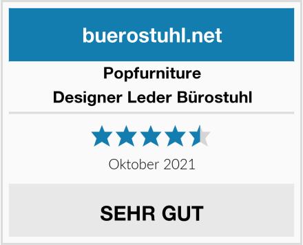 Popfurniture Designer Leder Bürostuhl Test