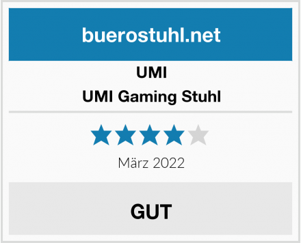 UMI UMI Gaming Stuhl Test