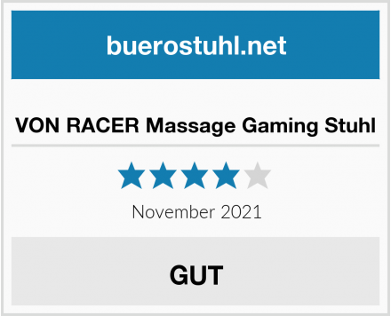 VON RACER Massage Gaming Stuhl Test