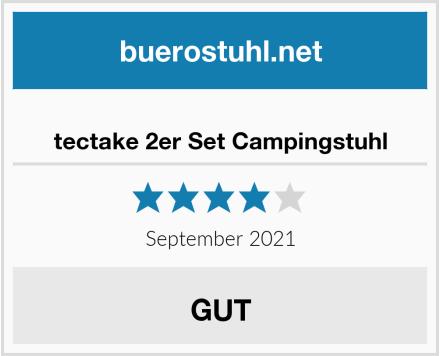 tectake 2er Set Campingstuhl Test