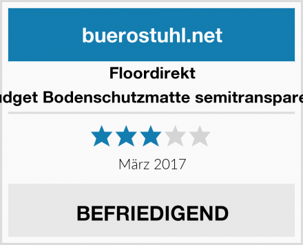Floordirekt Budget Bodenschutzmatte semitransparent Test