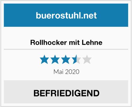 Rollhocker mit Lehne Test
