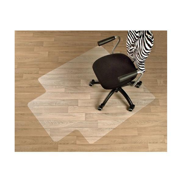 Floordirekt V Bodenschutzmatte für Hartböden mit Frontlippe