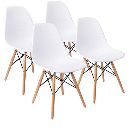 Naturelifestore COMFORTA BLE Plus Set of 4 Dining Room Chairs Eiffel