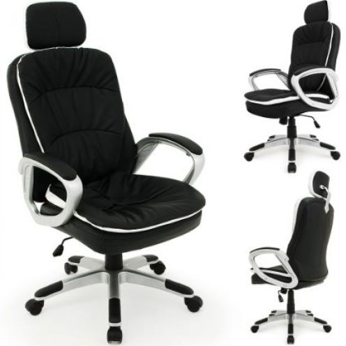 Deuba Bürostuhl mit flexibler Kopfstütze