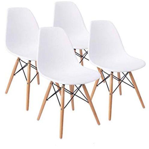 Naturelifestore COMFORTA BLE Plus Set of 4 Dining Room Chairs Eiffel
